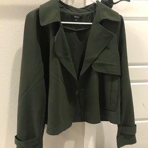 Premise Studios dark green Moto Jacket/Blazer 10